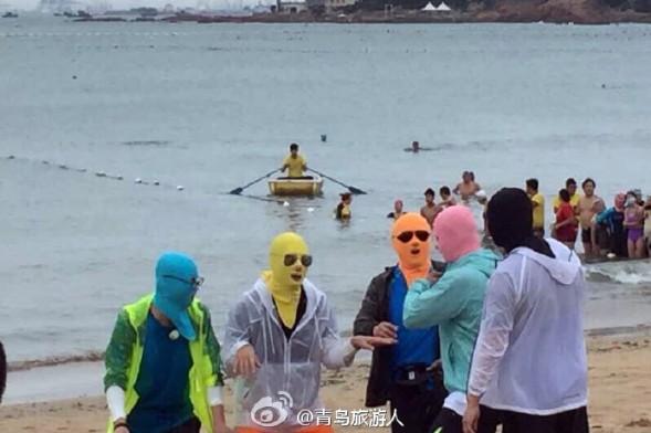《极限挑战》来青 黄渤等6天王戴脸基尼-青岛西海岸