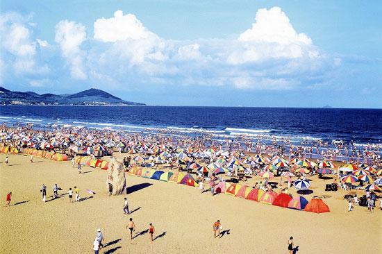 金沙滩春水荡漾-青岛西海岸新闻网