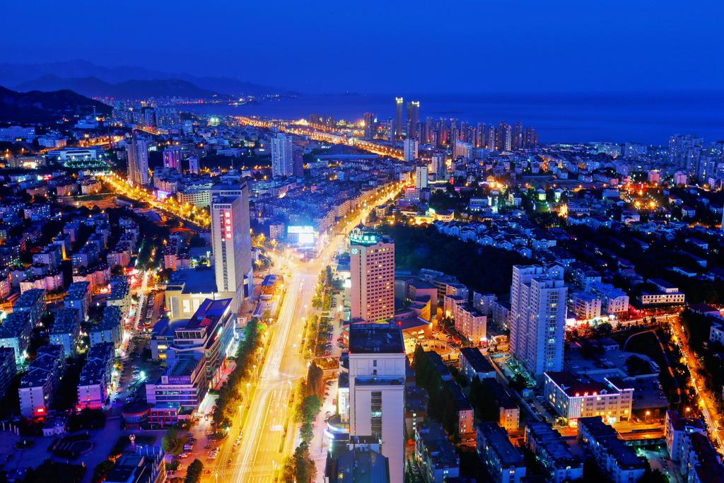 绚丽的青岛东部夜景 - 青岛西海岸新闻网