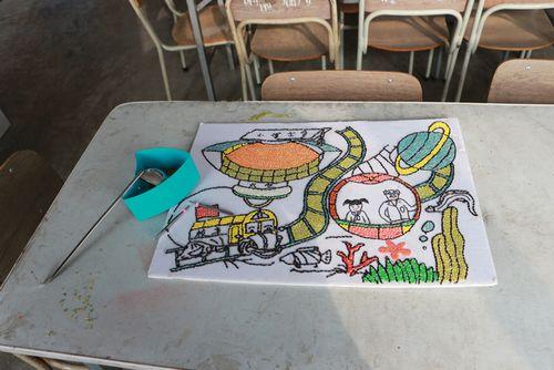 """红石崖粮食""""种""""画 铸就儿童专注力-青岛西海岸新闻网"""