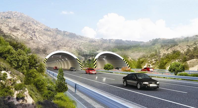 高速公路连接线朝阳山隧道正式开工