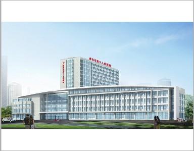 市第三人民医院迁建项目效果图-三医 5.8亿元迁建新大楼昨封顶
