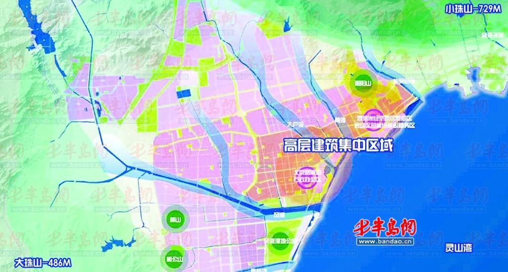 原胶南市中心城区天际线规划图 西海岸经济新区CBD核心区和北京路周边是规划的2个高层建筑集中设置区;原胶南海岸线禁止建设区为两河区域海景区,区域内禁止设置任何形式的高层建筑;风河湿地公园保护范围明确,1100亩湿地禁止建设高层建筑……7月1日,记者采访了解到,《原胶南市中心城区天际线专项规划》正式公布,正在进行社会公示。根据规划,原胶南市海岸线最终形成4类高层建筑管制分区。 根据最新发布的规划公示,本次规划范围为北至隐珠办事处黄山屯、西至北梁家庄、东北至柏果树河、南至黄海