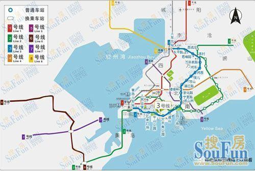 青岛地铁规划图-青岛楼市 输人不输阵 大规划助绘楼市版图