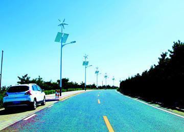 692盏新能源路灯亮相