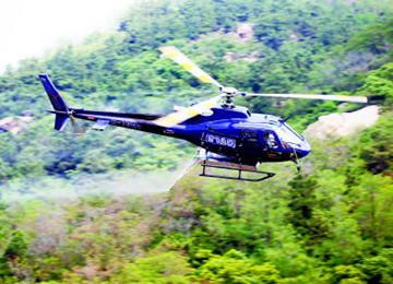 李沧区启动今年首次飞防作业 6小时喷洒3.5万亩