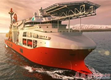 我国新型深潜水工作母船在青岛开建