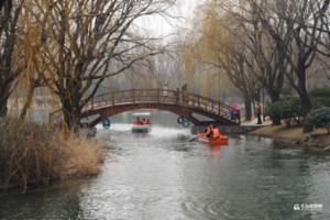 各公园游船重开 晒初春青岛的小桥流水