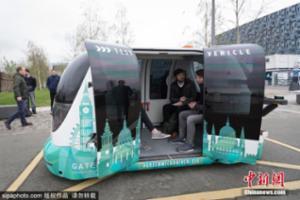 高科技!英国现无人驾驶巴士
