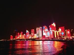 央视《新闻联播》直播!浮山湾夜景灯光秀扮靓岛城新春