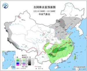 14日西北华北有降雪 未来一周南方多阴雨天气