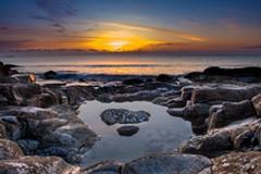 清晨多彩海岸