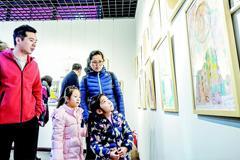 学生绘画作品展在玉和客服微信开展
