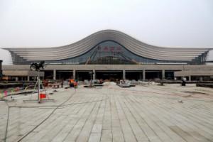 探访建设中的青岛西站