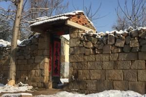 雪后初霁山村景美
