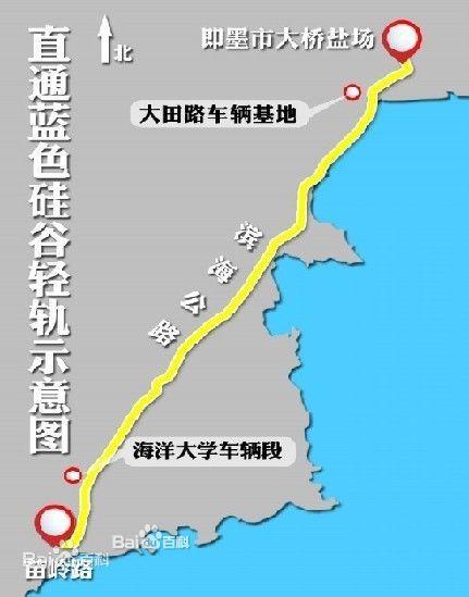 终点为青岛新机场,规划线路总长47