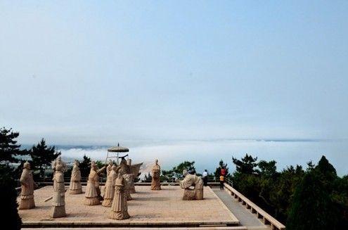 千年古迹琅琊台风景区 云海流雾观奇景