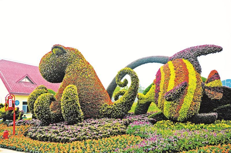 青岛景观花坛设计图
