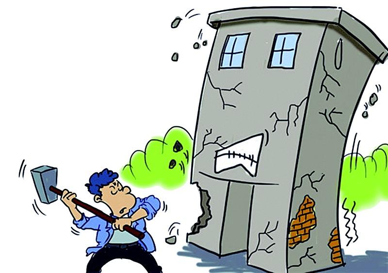 但市民在房屋使用和装修过程中仍存在不少破坏行为