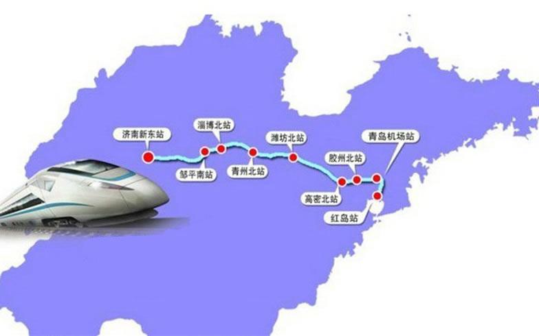 济青高铁将与青荣城际铁路,青连铁路等高铁线路连接,未来济南到烟台