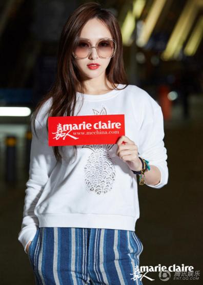 唐嫣受邀巴黎时装周 时髦春装现身机场造型亮眼-青岛